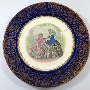 Decorative Vintage China Purple Dinner Plate